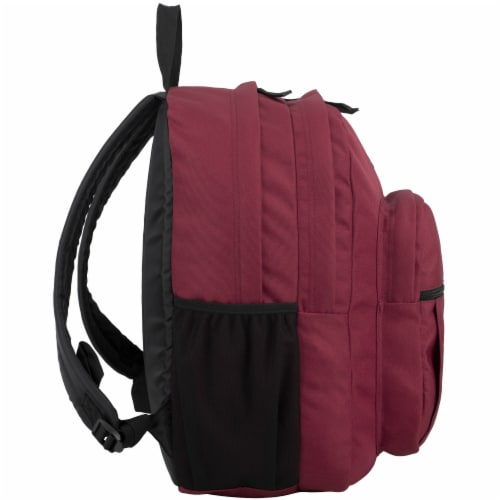 Fuel Deluxe Classic Large Backpack - Maroon Perspective: left
