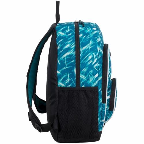 Fuel Triple Decker Backpack - Brush Stroke Aqua/White Perspective: left