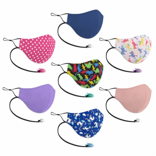 GoGo Clip-IT-ON Youth Girls Face Mask Perspective: left