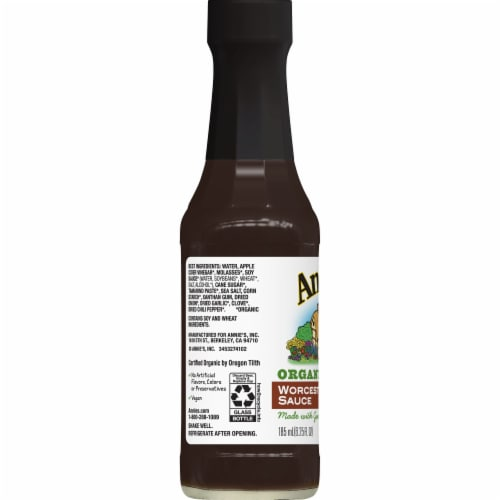 Annie's Organic Worcestershire Sauce Perspective: left