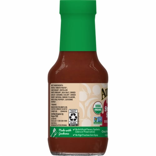 Annie's Organic Sweet & Spicy BBQ Sauce Perspective: left