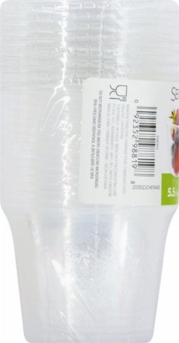 Sensations Portion 5.5-Ounce Plastic Cups With Lids - Clear Perspective: left