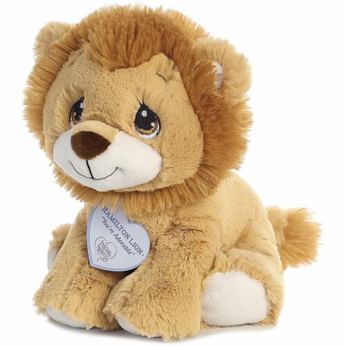 Hamilton Lion 8 inch - Baby Stuffed Animal by Precious Moments (15710) Perspective: left