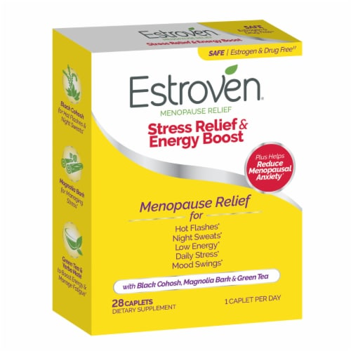 Estroven Menopause Relief Maximum Strength Caplets Perspective: left