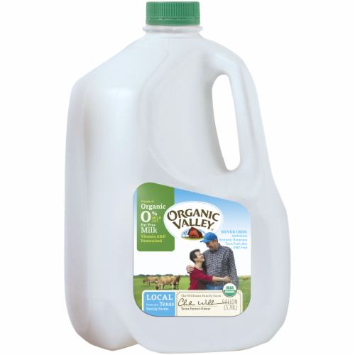 Organic Valley Fat Free Skim Milk Perspective: left