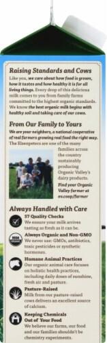 Organic Valley Fat Free Milk Perspective: left