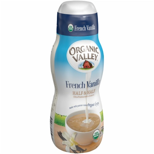 Organic Valley Ultra Pasteurized French Vanilla Half & Half Perspective: left