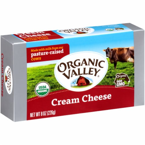 Organic Valley Cream Cheese Perspective: left