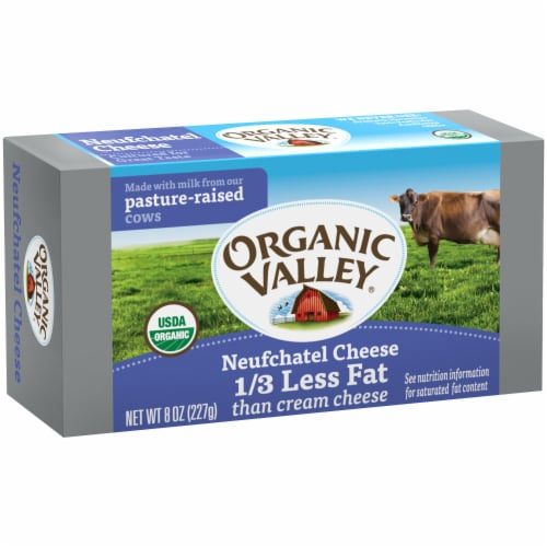 Organic Valley Neufchatel Cheese Spread Perspective: left