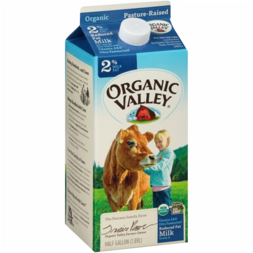 Organic Valley 2% Reduced Fat Milk Perspective: left