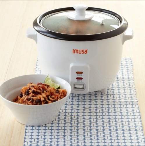 IMUSA Electric Nonstick Rice Cooker - White Perspective: left