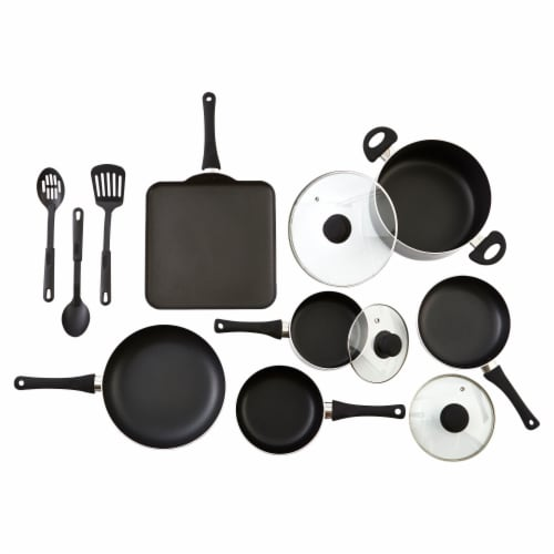 IMUSA Nonstick Cookware Set - Charcoal Perspective: left
