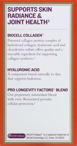 Reserveage Nutrition Collagen Booster Capsules Perspective: left