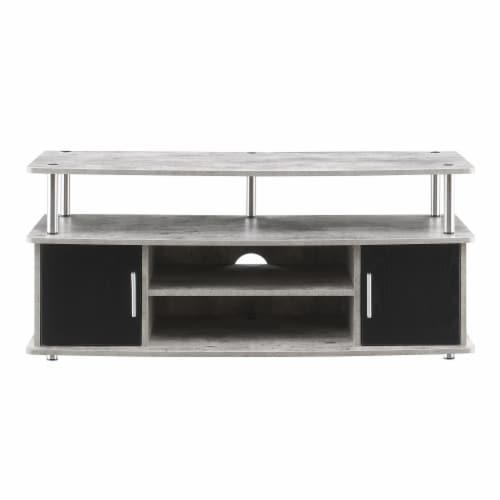 Convenience Concepts Designs2Go Monterey 47  TV Stand in Weathered Gray Wood Perspective: left