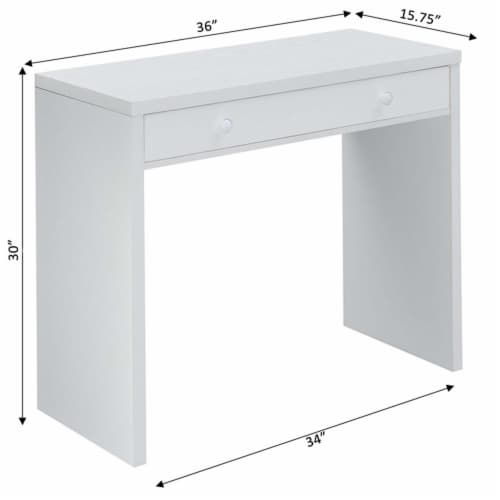 Northfield 36 inch Desk with Drawer Perspective: left