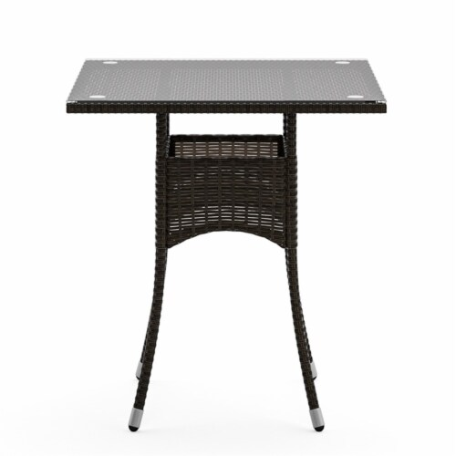 Longboat Key Brown Rattan Bistro Table and Chairs Perspective: left