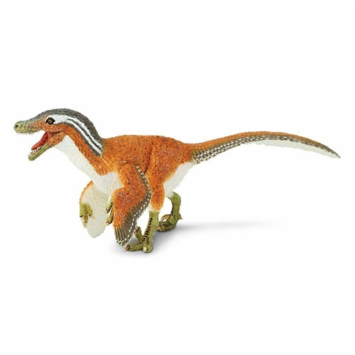 Feathered Velociraptor Toy Perspective: left