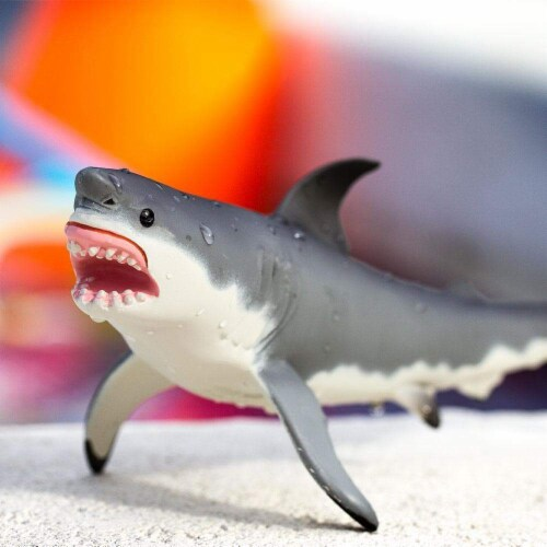 Great White Shark Toy Perspective: left