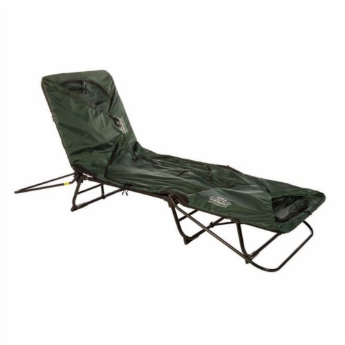 Kamp-Rite Oversize Portable Versatile Cot, Chair, and Tent, Easy Setup, Green Perspective: left