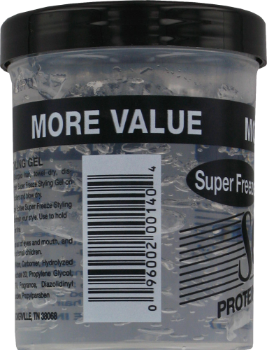 Softee Super Freeze Protein Styling Gel Perspective: left