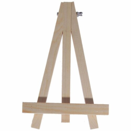 Juvale Wooden Mini Easel Stands for Desk or Tabletop (7 Inches, 6-Pack) Perspective: left