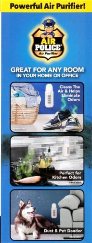 Air Police™ Compact Wall Outlet Air Purifier Perspective: left