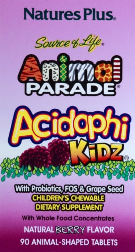 Nature's Plus Animal Parade Acidophi Berry Perspective: left