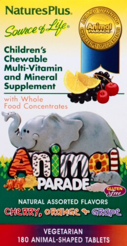 Nature's Plus Animal Parade Chewable Vitamin Perspective: left