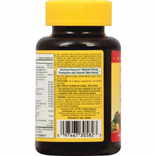 Nature's Plus  Source of Life® Multi-Vitamin and Mineral Supplement Perspective: left
