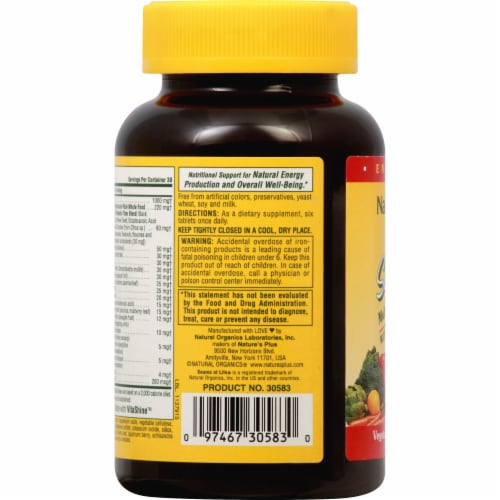 Nature's Plus Source of Life Mini Tablets Perspective: left