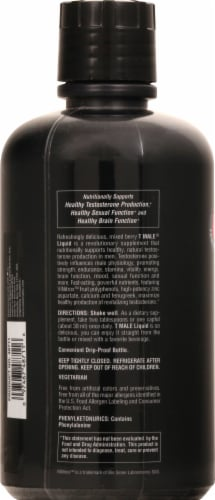 Nature's Plus T Male Mixed Berry Liquid Testosterone Boost Perspective: left