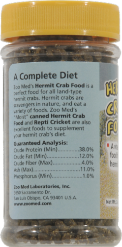 Zoo Med Hermit Crab Food Perspective: left