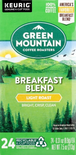 Green Mountain Coffee Breakfast Blend K-Cup Pods Perspective: left