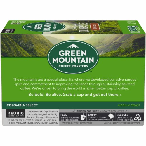 Green Mountain Coffee Colombia Select Medium Roast K-Cup Pods Perspective: left