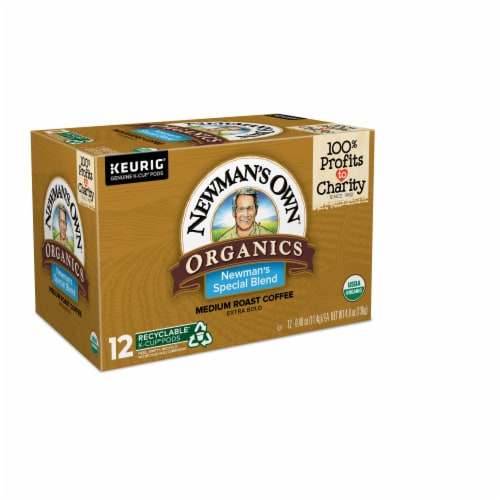 Newman's Own Organics Medium Roast Special Blend Coffee K-Cup Pods Perspective: left