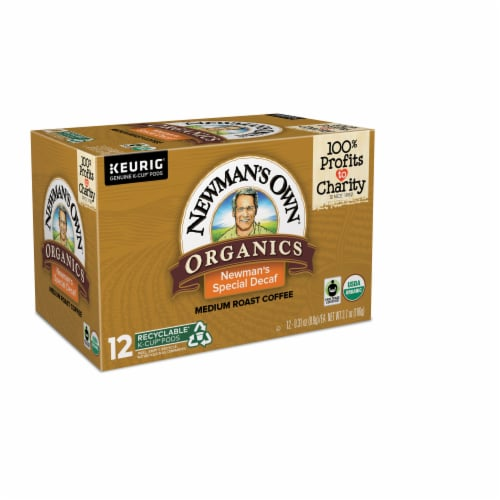 Newman's Own Organics Special Decaf Medium Roast Coffee K-Cup Pods Perspective: left