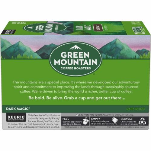 Green Mountain Coffee Dark Magic Dark Roast Coffee K-Cup Pods Perspective: left
