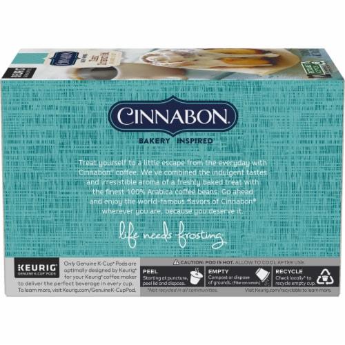 Cinnabon Classic Cinnamon Roll Light Roast K-Cup Pods Perspective: left