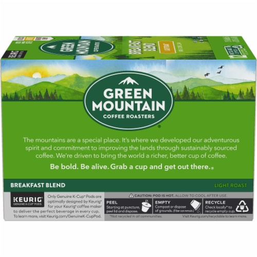Green Mountain Coffee Roasters Breakfast Blend Light Roast K-Cup Pods Perspective: left