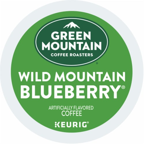 Green Mountain Coffee Wild Mountain Blueberry Flavored Coffee K-Cup Pods Perspective: left