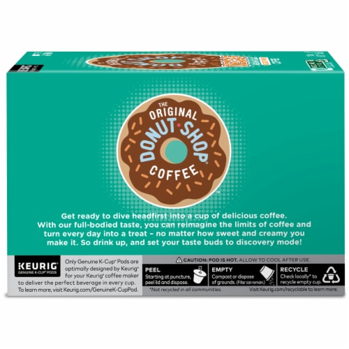 The Original Donut Shop Decaf Medium Roast Coffee K-Cup Pods Perspective: left