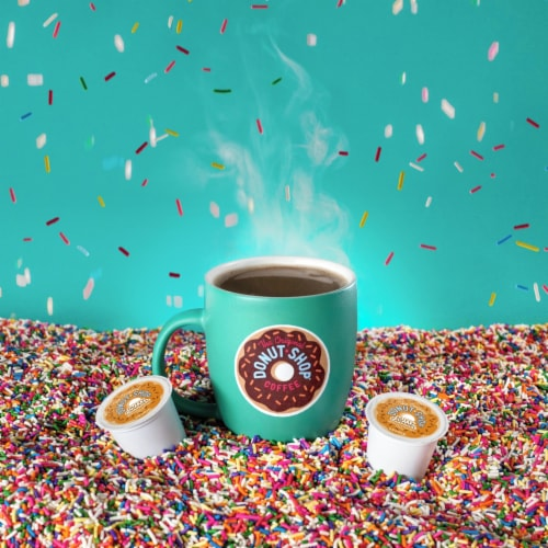 The Original Donut Shop Nutty Caramel Coffee K-Cup Pods Perspective: left