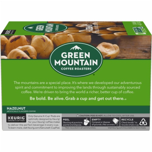 Green Mountain Coffee Hazelnut Coffee K-Cup Pods Perspective: left