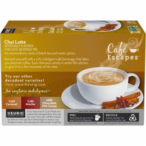 Cafe Escapes Chai Latte K-Cup Pods Perspective: left