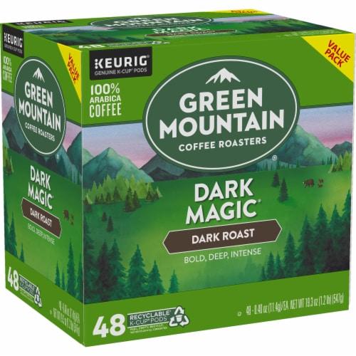 Green Mountain Dark Magic Dark Roast Coffee K-Cup Pods Perspective: left