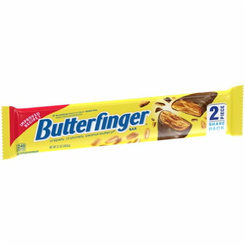 Butterfinger Share Pack Candy Bar Perspective: left