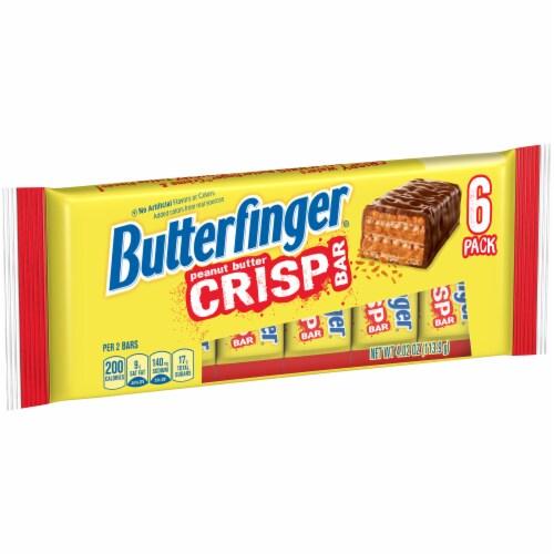 Butterfinger Peanut Butter Crisp Bars Perspective: left