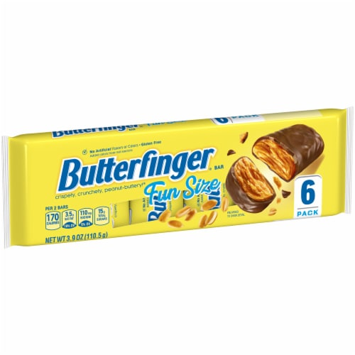 Butterfinger Fun Size Candy Bars Perspective: left