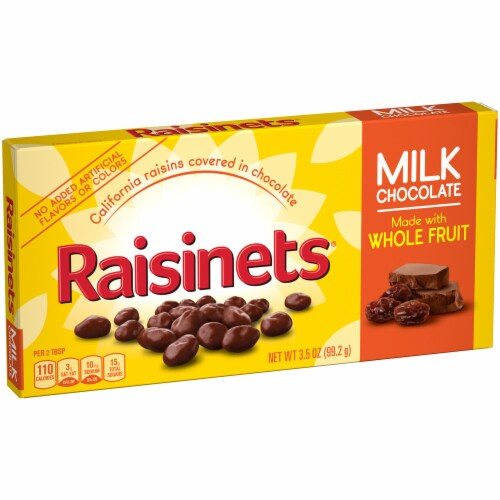Raisinets Milk Chocolate Covered Raisins Perspective: left