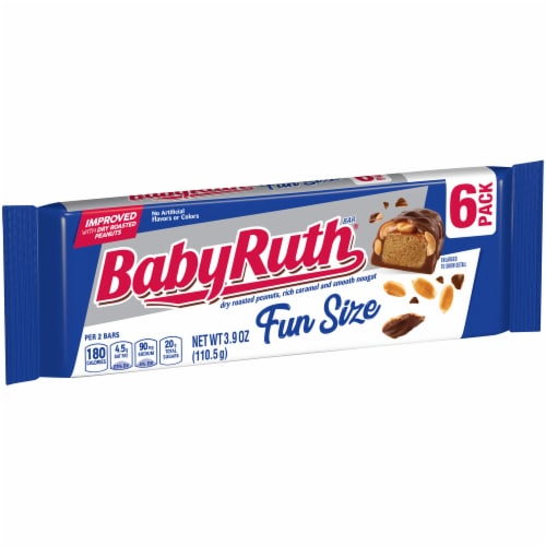 Baby Ruth Fun Size Candy Bars Perspective: left